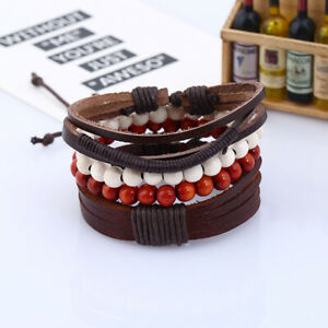 New Style Men Classical Hemp Rope Leather Women Braided Adjustable Bracelet Gift
