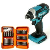 Makita DTD152 18V LXT Impact Driver + 37Pc Screwdriver Set With Magnetic Holder
