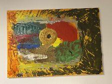 """Expressionismus POP Art Kunst Gemälde: """"Thread"""" Artist: FISH"""