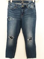 Miracle Jeans Size 6 Divine Skinny Distressed Ripped Denim Raw Frayed Hem Womens