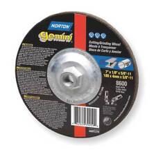 NORTON 66252842025 Gemini Depressed Ctr Wheel,T27,4.5x0.045x5/8-11