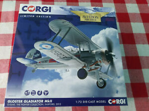 CORGI Gloster Gladiator MkII Fighter Collection AA36210 Ltd Edition New in Box