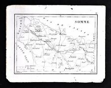 1833 Perrot Tardieu Map - Somme - Amiens Abbeville Peronne Doulens - France