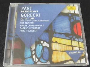 PART - DE PROFUNDIS / GORECKI - TOTUS TUUS, TAVENER - NEW / SEALED - 2012 CD