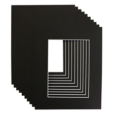 BLACK PICTURE & PHOTO FRAME MOUNTS - All popular sizes and pack quantities