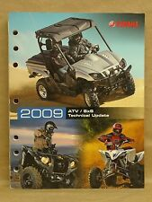 Yamaha 2009 ATV Side by Side SxS Technical Update Guide Book Manual 17500-AT-09