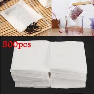 500pcs Empty Teabags Heat Seal Filter Pepper Herb Loose Tea Bags 5.5x6.2cm