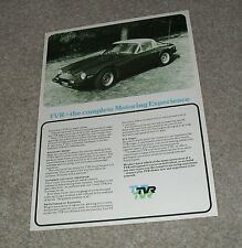 TVR 1600M 3000M Double Sided Specification Flyer / Brochure 1972