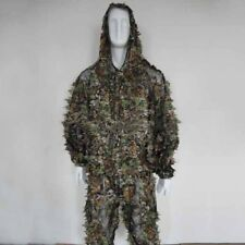 3D Military Camouflage Leaf Clothing Woodland Hunting Camo Sniper Ghillie Suit