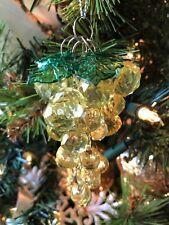 "Wonderful New Kurt Adler 4"" Vineyard Beaded Grapes Christmas Ornament - Green!"