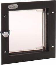 Plexidor Heavy Duty 4-way Energy Efficient Locking Pet Door in Bronze, Cat & Dog