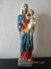 Madonna, Maria mit Kind, Keramik, bemalt