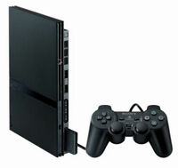 Sony PlayStation 2 Slim Edition Charcoal Black Console - Refurbished and Tested