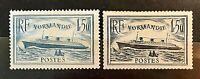 France 1935 *** Le Normandie *** Y&T N°s 299 & 300 *** Neufs Sans Charnière TTBE