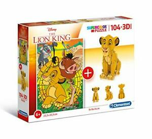 Clementoni 20158 Disney 20158-Puzzle 104 3D Model-Lion King-104 Pieces, Multi-Co