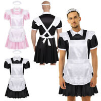 Men Adults Sissy Maid Cosplay Costume Outfit Crossdressing Dress Party Nightwear