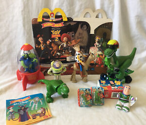 Disney Pixar, Toy Story Figures and Happy Meal Box
