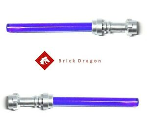 Lego Star Wars 2 x Genuine LEGO Minifigure Purple Lightsabers