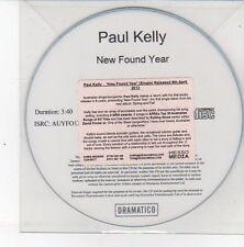 (DS534) Paul Kelly, New Found Year - 2013 DJ CD