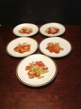 "E&R 1886 Golden Crown Harvest Lot Of 5 Salad Plates 7 5/8"" Made In Germany"