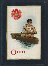 S22 Small Murad 1910 THE OHIO STATE UNIVERSITY ROWER SILK Beautiful Condition