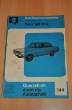 VAUXHALL Viva HB 22 23 Handbuch Bucheli Reparatur neu Reparaturanleitung B144