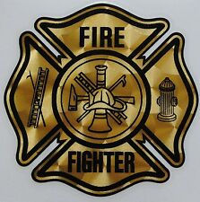 "Firefighter Gold Coburn Vinyl Decal, Fire Department, 4.25""wide  #FD23"