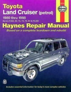 Haynes Workshop Manual Toyota Land Cruiser Petrol 1980-1998 New Service Repair