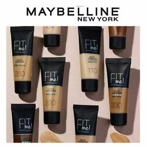 Maybelline Fit Me Foundation Matte and Poreless Foundation 30ml Brand New
