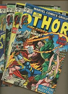 Thor 223,224,227,228 * 4 Book Lot * John Buscema! Valkyrie! Destroyer! Fire Lord