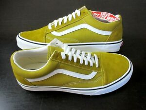 Vans Mens Old Skool Olive Oil Green True White Suede Canvas Shoes Size 12 NWT