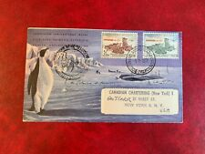BELGIUM ANTARCTIC 1958 COVER SOUTH POLE EXP DOG TEAM BOTH TYPES PENGUINS