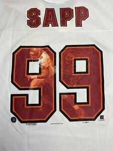 Vintage Authentic 1997 WARREN SAPP Jersey Shirt L Rare Graphic BUCCANEERS P12