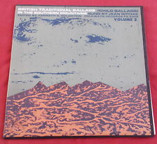 BRITISH TRADITIONAL BALLADS  SOUTHERN MOUNTAINS LP ORIF US FOLKWAYS JEAN RITCHIE