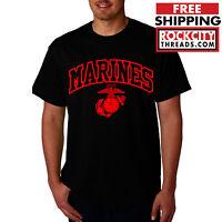 MARINES ARCHED T-SHIRT Military United States Tshirt Shirt Semper FI US USMC USA