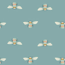 Art Gallery ~ Garden Dreamer Bumblebuzz Teal Fabric / quilting bee dressmaking