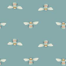 Art Gallery ~ Garden Dreamer Bumblebuzz Teal Fabric / quilting bee dressmaking