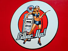 FILLER UP Retro Petrol Pump Car  Sticker 1 off 85mm