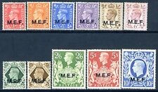 BRITISH OCCUPATION OF ITALIAN COLONIES-1943-47 Set of 11 Values OVPT M.E.F