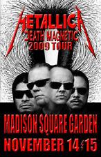 Metallica Replica *Madison Square Garden* 2009 Concert Poster