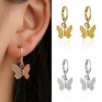 Chic Butterfly Wings Ear Stud Dangle Earrings Charm Women Fashion Jewellery Gift