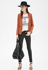 Forever 21 Collarless Open-Front Blazer, L