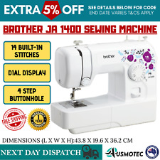 Brother JS1400 Portable Arm Sewing Machine - White