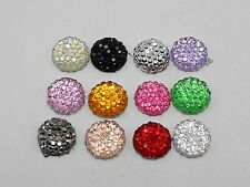 "100 Mixed Color Round Flatback Resin Dotted Rhinestone Beads 10mm(3/8"")"