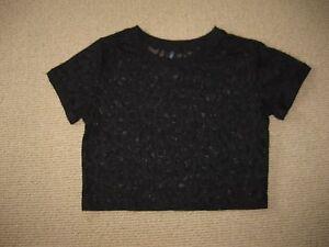 Ladies Black Lace Top Size S