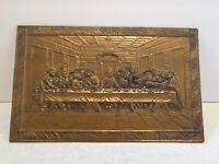 Vintage Last Supper Brass Raised 3-D Wall Hanging Picture Photo Plaque England