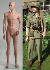 """SMALL SIZE 5'9"""" Lifelike Realistic Military Mannequin WW1 WW2 Uniforms"""