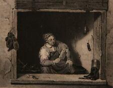 W.HESSLOEHL (*1810) nach LANDSEER (19.Jhd), Der politische Schuster, Rad.