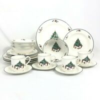 20 PIECE SET SALEM WHIMSICAL CHRISTMAS DINNERWARE DINNER SALAD CUP SAUCER BOWL
