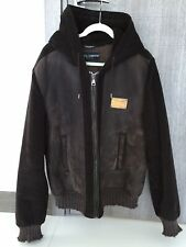 Dolce And Gabbana Men's Jacket Lambskin Brown Size 56